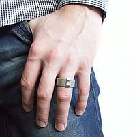 Кольцо из стали в виде кольчуги Арт. RNM001SL (21), фото 2