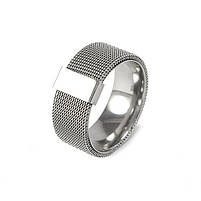 Кольцо из стали в виде кольчуги Арт. RNM001SL (21), фото 3
