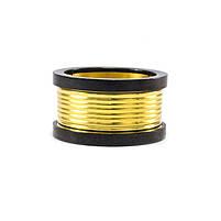 Кольцо из стали золотистое с черными краями Арт. RNM010SL (20), фото 4