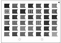 Пластина для стемпинга прямоугольная серии XL (148 ммх210 мм) XL-A BTW /041