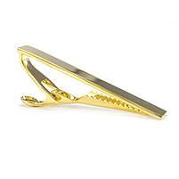 Зажим для галстука из стали цвета желтого золота Арт. CFM002SL, фото 2