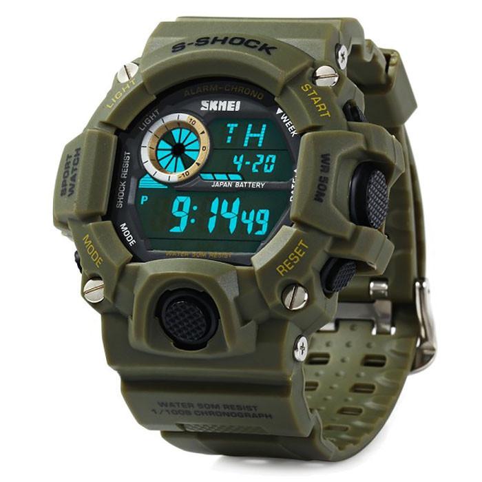 Часы тактические S-Shock Skmei 1019 Green