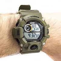 Часы тактические S-Shock Skmei 1019 Green, фото 2