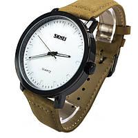 Часы Skmei 1196 White Brown Band