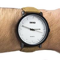 Часы Skmei 1196 White Brown Band, фото 2