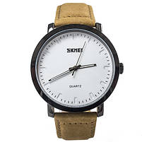Часы Skmei 1196 White Brown Band, фото 3