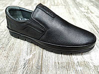 Натуральная кожа! Мужские туфли Goess кожаные мокасины без шнурка