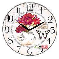 """Настенные часы """"Flowers"""" (29 см. МДФ), фото 1"""