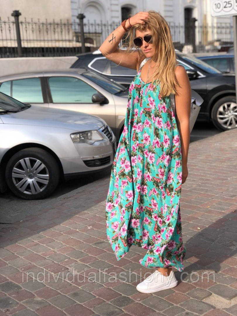 Платье - сарафан на бретелях Круиз