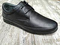 Натуральная кожа! Мужские туфли Goess кожаные на шнурке мокасины black.Внутри полностью кожа.