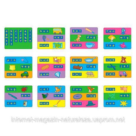 Набор для обучения Карточки для набора Занимательные буквы 1401 Gigo, фото 2