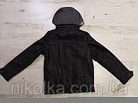 Куртки кожзам на меху для мальчиков оптом, Glo-story, 110-160 рр., арт.BPY-7444, фото 4