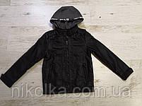 Куртки кожзам на меху для мальчиков оптом, Glo-story, 110-160 рр., арт.BPY-7444, фото 2