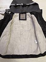 Куртки кожзам на меху для мальчиков оптом, Glo-story, 110-160 рр., арт.BPY-7444, фото 3