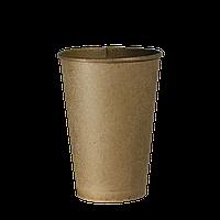 """Одноразовый стакан, серия Крафт """"Х"""", 350мл. Евро, 50шт/уп (1ящ/20уп/1000шт) под крышку КВ90"""