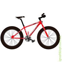 """Велосипед сталь.рама 17"""", Shimano 21SP, алюм.DB, алюм.обод, 26""""*4.0, кра"""