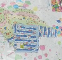 Распашонка, кофта цветная на кнопках, кулир (тонкий трикотаж), размер 56-86 см.