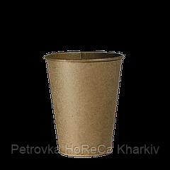 "Одноразовые стаканы, серия Крафт ""Ф"", 250 мл. 50шт.упак.(40/2000) под крышку кр77"