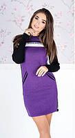 Платье женское короткое с косыми карманами (К24109), фото 1