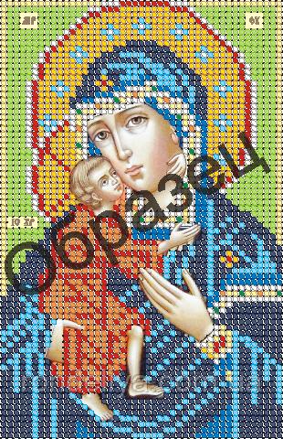 Схема для вышивки бисером «Пресвятая Богородица Федоровская»