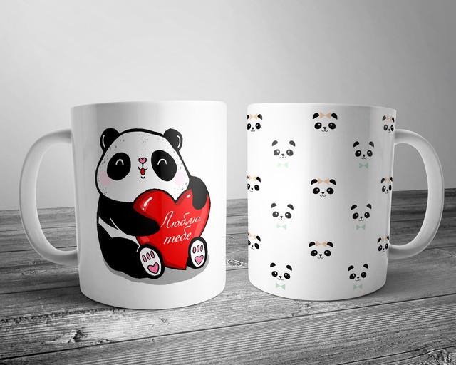 чашка с принтом панда