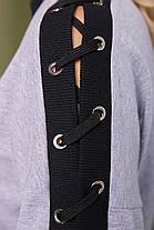 Кофта женская со шнуровкой на рукаве Пальми, фото 2