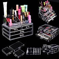 Акриловый органайзер для косметики настольный Cosmetic Organizer комод