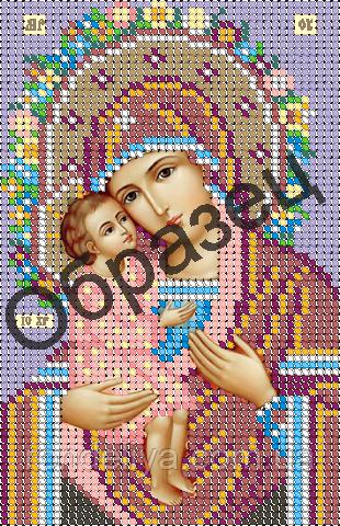 Схема для вышивки бисером «Пресвятая Богородица Жировицкая»