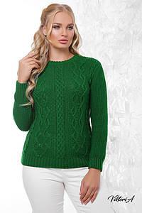 Женский свитер ажурной вязки в расцветках, р-р 48-54. ВИ-1-0918