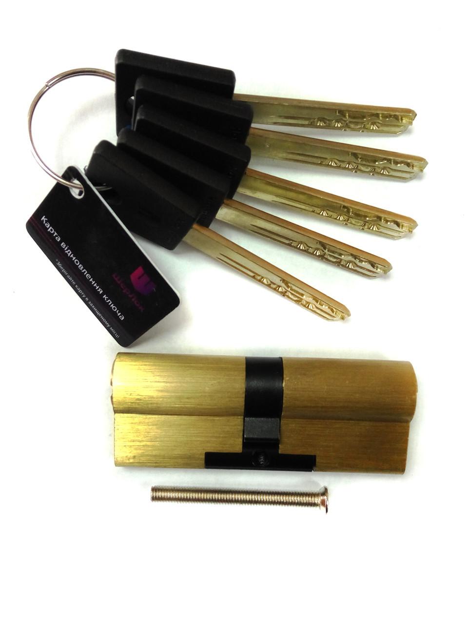 Цилиндровый механизм 110(55x55) Шерлок Золото