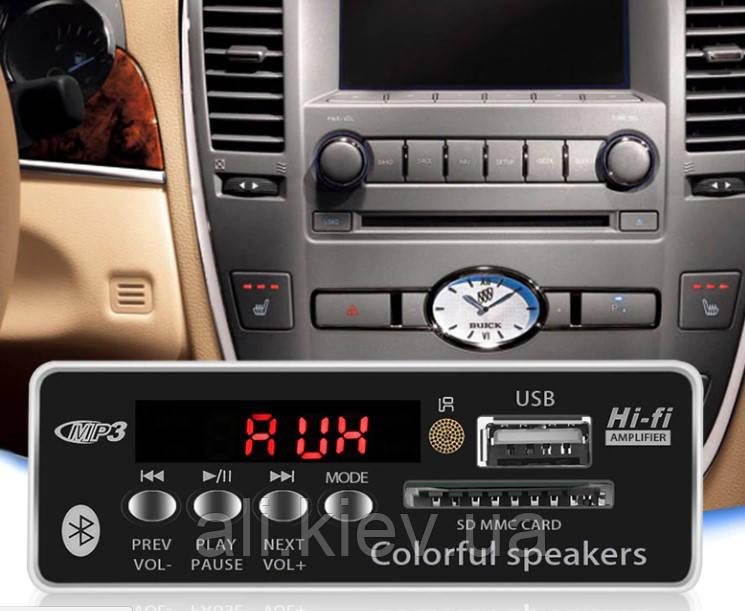NEW! Декодер плеер с Bluetooth 4.0 MP3/FM/USB/SD/AUX Модуль Decoder 12V + дистанция DIY