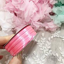 Атласная лента 3 мм, розовая #05 /90 м