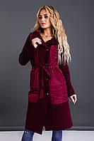 Женское стильное пальто с капюшоном  ВШ1048, фото 1