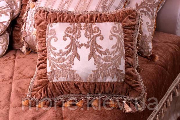 Подушка декоративная прямоугольная с бахромой 55/35 кв-07, фото 2