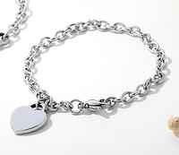"""Жіночий браслет стальний """"Серце"""""""