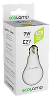 LED лампа ECOLAMP A60-7W-E27-700lm-3000K