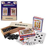 Игра Настольная Домино и Игральные Карты 2 колоды, А140, 009367