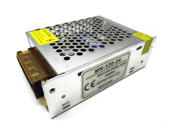 Блок питания PREMIUM SL-120-24 24В 120Вт 5А IP20 (перфорированный) Код.58841, фото 2