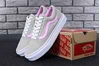 """Кеды женские Vans Old Skool Pink """"Серые с розовым"""" р. 5-7.5 (36-40), фото 1"""
