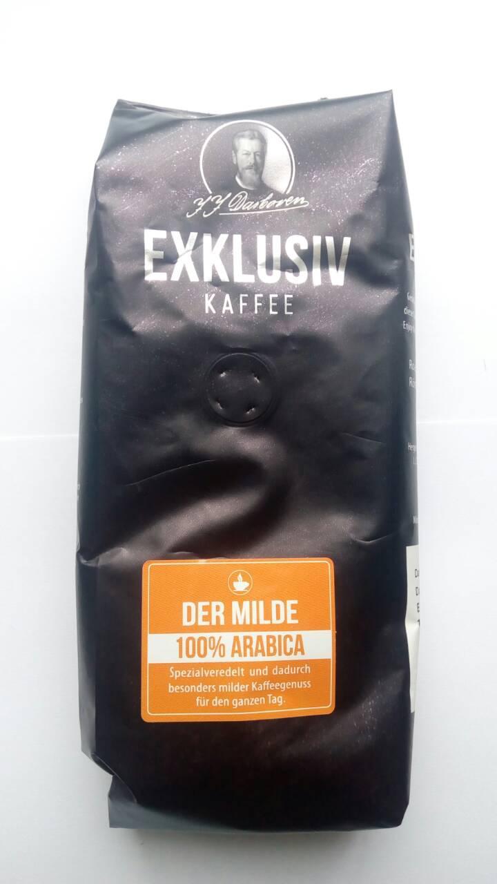 Кофе J.J. Darboven Exklusiv kaffee der Milde в зернах 250 гр
