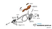 Механизм ручки двери в сборе передний правый Nissan Leaf ZE0 (10-13) 80610-1AA0A