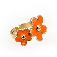 """Кольцо """"Цветы с эмалью"""""""