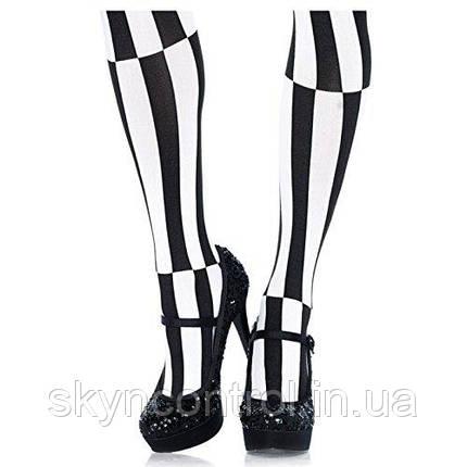 Колготки черно белая полоска Leg Avenue Optical Illusion Pantyhose, фото 2