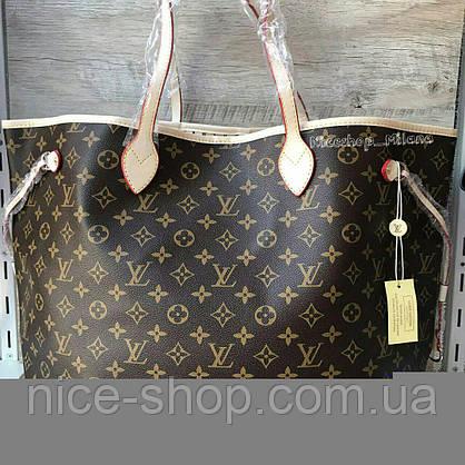 Сумка Louis Vuitton Neverfull Large, монограмм классика, фото 3