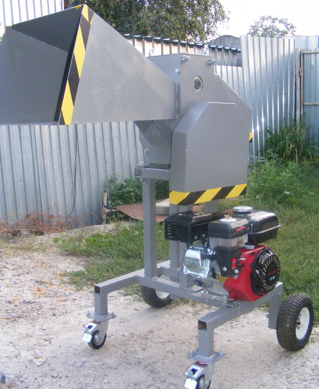 Измельчитель веток ДС-100-Д (Под бензиновый или электро двигатель, до 100 мм)