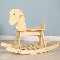 Деревянная лошадка качалка, фото 1