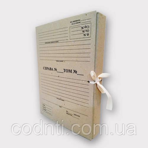 Папка нотариальная на завязках. Высота корешка 30 мм