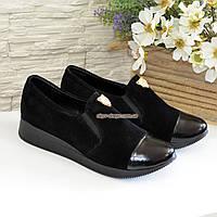 Женские замшевые туфли на утолщенной подошве, фото 1