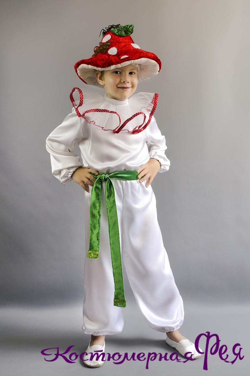Грибок Мухомор, карнавальный костюм для мальчика (код 90/6)