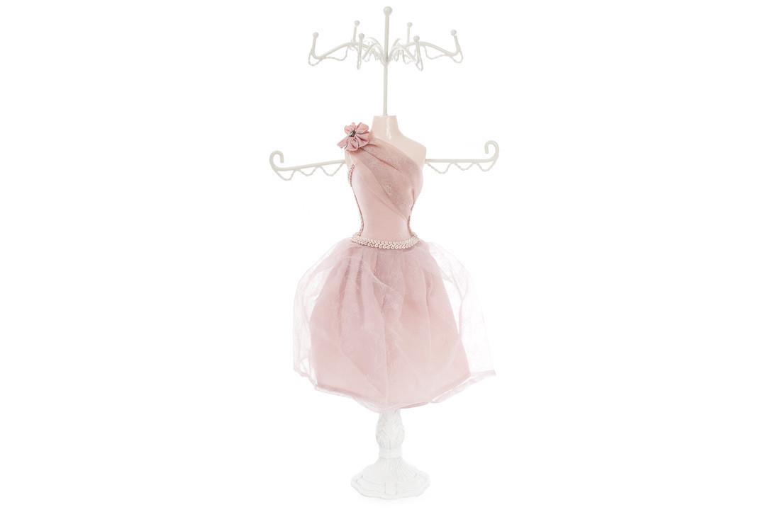Подставка для украшений Платье 40.5см, цвет - розовый 489-325